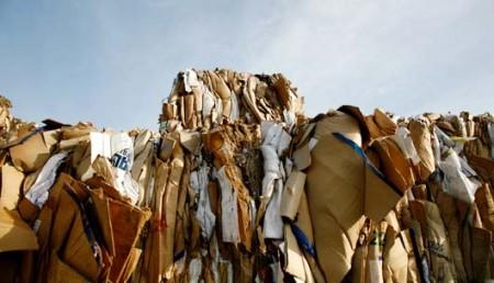 Déchets de carton importés pour recyclage