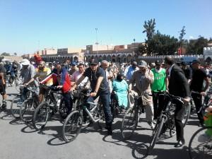 Participation des Officiels à la 5ème Vélo-parade de Tiznit