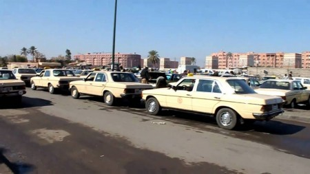 Grands taxis au Maroc