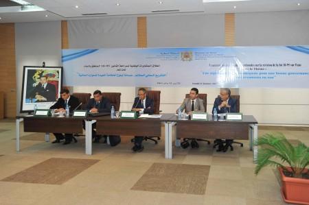 Vue d'ensemble de la réunion de concertation au Ministère de l'Eau, le 12 janvier 2015